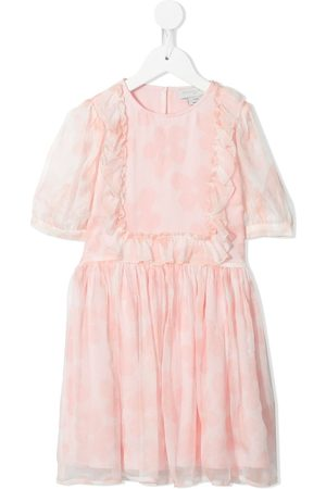 Stella McCartney Girls Printed Dresses - Floral-print georgette-silk dress