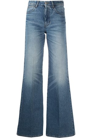 Ami High-waisted flared trousers