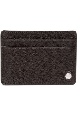 Orciani Pebbled effect logo plaque cardholder