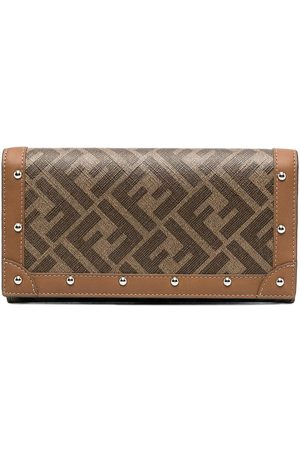 Fendi FF studded continental wallet