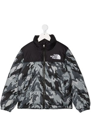 The North Face Kids TEEN camouflage print padded jacket