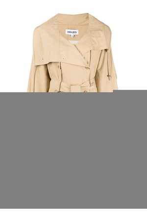 Kenzo Women Trench Coats - Double-breasted belted trench coat