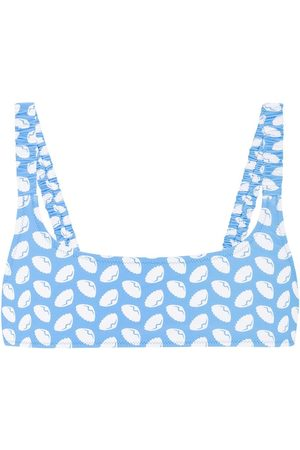 Fisch Colombier Printed Bikini Top