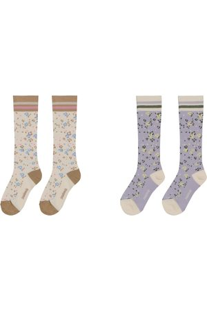 PAADE 2 pairs of floral cotton-blend socks