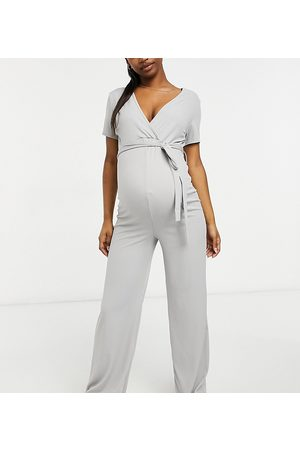 Missguided Women Jumpsuits - Wide leg jumpsuit with wrap detail in