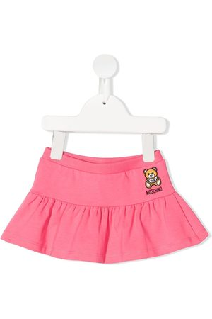 Moschino Baby Skirts - Embroidered-teddy skirt