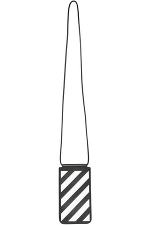 OFF-WHITE DIAG SAFFIANO NECK POUCH WHITE