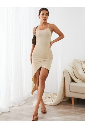 YOINS Asymmetric Body-Conscious Cami Dress