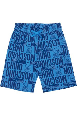 Moschino Boys Shorts - All Over Print Cotton Sweat Shorts