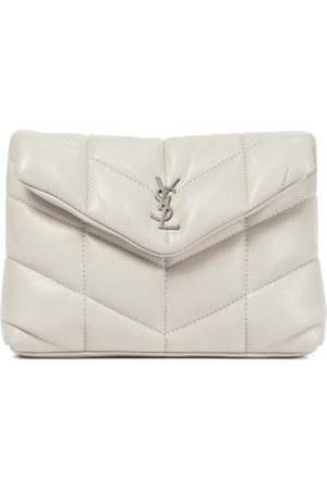 Saint Laurent Loulou Puffer leather clutch