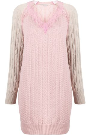 Stella McCartney Women Knitted Dresses - Panelled knitted dress