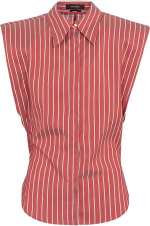 Isabel Marant Enza pinstriped silk shirt