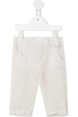 Il gufo Baby Chinos - Embroidered logo striped trousers