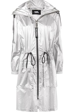 Karl Lagerfeld Metallic hooded raincoat