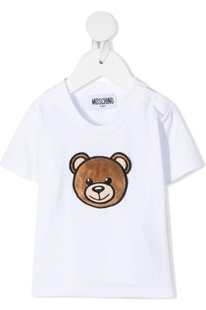 Moschino Textured Teddy patch T-shirt