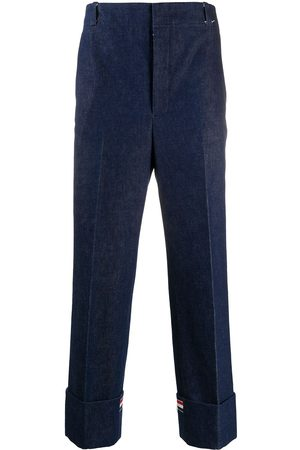Thom Browne Washed denim tailored trousers