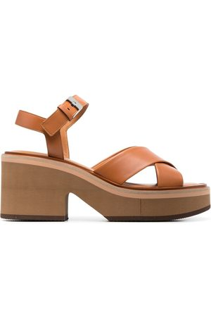 Robert Clergerie Platform leather-strap sandals