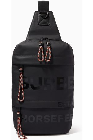 Burberry Women Rucksacks - Crossbody Backpack in Horseferry Coated Cotton Canvas