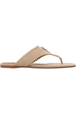 LORO PIANA 10mm Jovis Suede Thong Sandals