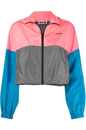 Msgm Panelled windbreaker jacket