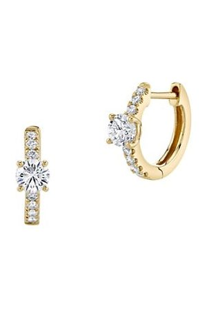 Anita Ko 18K & Diamond Huggie Hoop Earrings