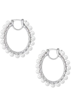 Majorica Karma 4MM Round Man-Made Pearl Huggie Earrings