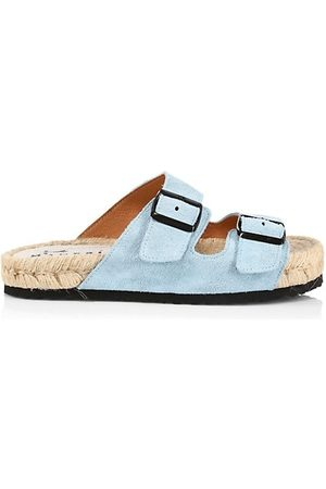 MANEBI Casual Shoes - Nordic Suede 2-Band Espadrille Sandals