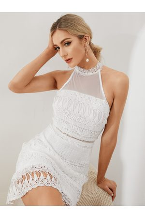 YOINS Gorgeous Lace See-through Sleeveless Mini Dress