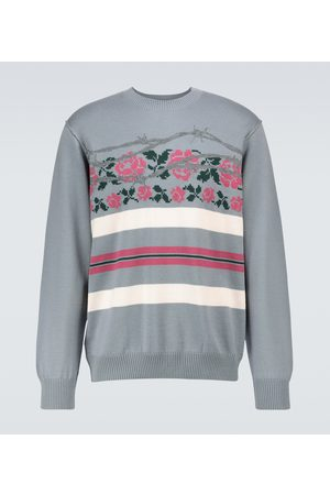 UNDERCOVER Wool floral jacquard sweater
