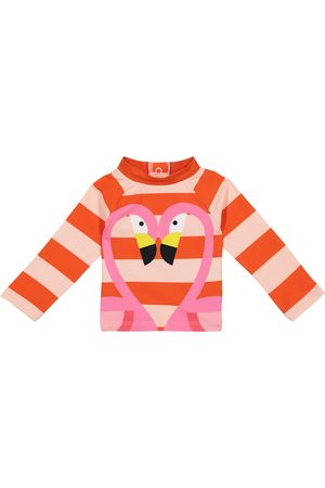 Stella McCartney Baby Flamingo striped rashguard