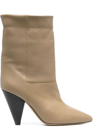 Isabel Marant Conical-heel leather ankle boots