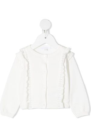 Chloé Cardigans - Ruffle-detailed knitted cardigan