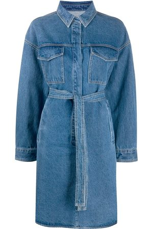 12 STOREEZ Belted denim shirt dress