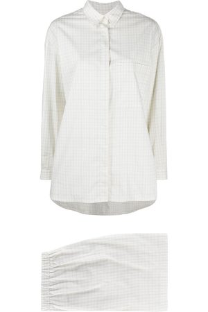 12 STOREEZ Check print shirt and shorts set