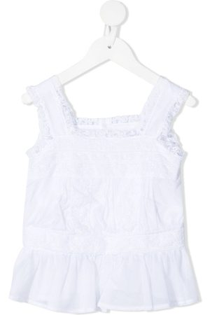 ERMANNO SCERVINO JUNIOR Lace-detailed sleeveless blouse