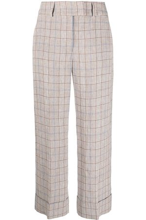 PESERICO SIGN Check print trousers