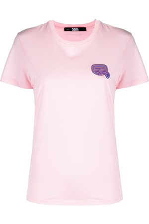 Karl Lagerfeld Women Short Sleeve - Mini Ikonik Karl-patch T-shirt