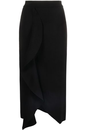 Alexander McQueen Draped high-waisted pencil skirt