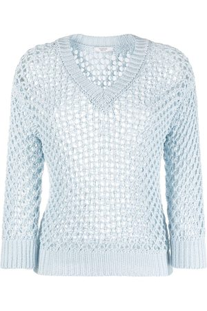 PESERICO SIGN Open-knit round neck jumper