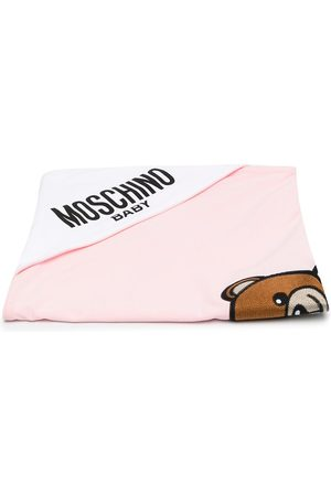 Moschino Embroidered Teddy blanket