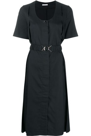 12 STOREEZ Belted front button midi dress
