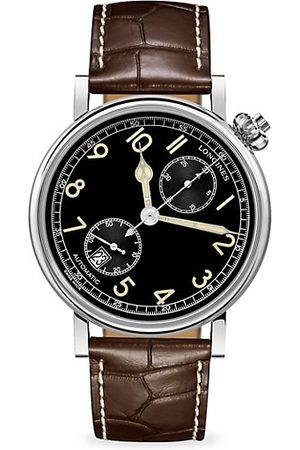 Longines Men Watches - The Avigation Watch Type A-7 1935 Stainless Steel & Alligator-Strap Watch