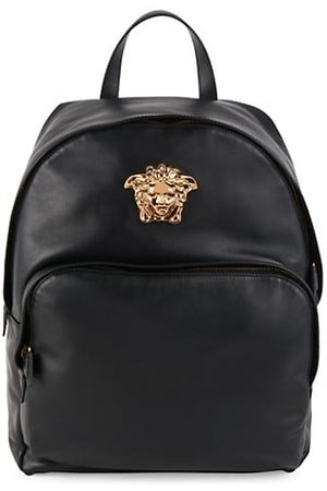 VERSACE Logo Leather Backpack