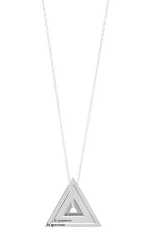 Le Gramme Accumulation Slick Triangle Necklace
