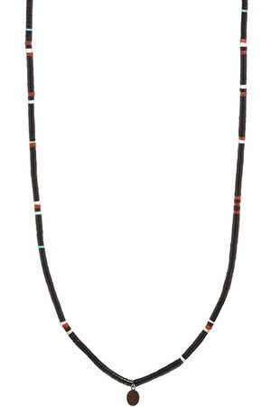 Mikia Tube Stone Suede Necklace