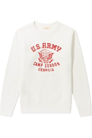 The Real McCoys The Real McCoy's Camp Gordon Military Print Crew Sweat