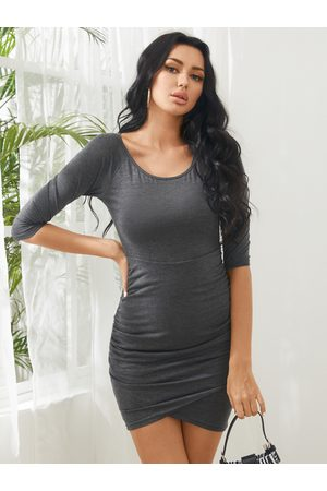 YOINS BASICS Sexy Bodycon Fit Dress with Irregular Hem