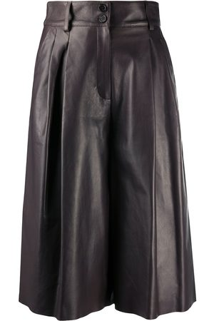 Dolce & Gabbana Women Culottes - Pleated leather culottes