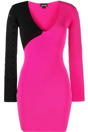 Roberto Cavalli Women Knitted Dresses - Perforated ribbed-knit dress