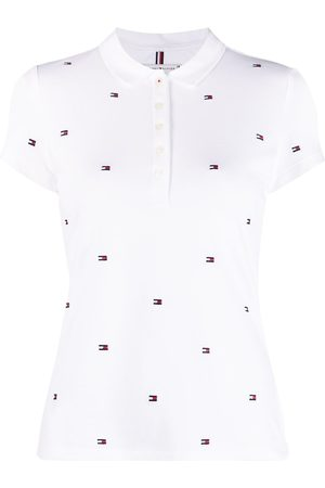 Tommy Hilfiger Women Polo Shirts - Logo-print short-sleeved polo shirt